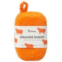 orange-sheep-felted-soap-nurme