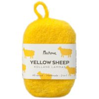 yellow-sheep-felted-soap-nurme